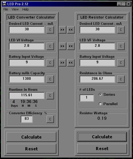 LED Calculator Program